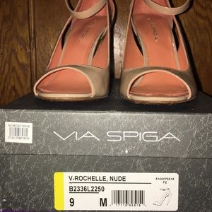 Via Spiga Rochelle Nude Open with Ankle Strap Shoe